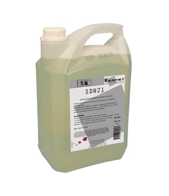 Bidon 5L SND 21 dégraissant très haute performance pour les professionnels