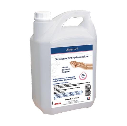 Bidon 5L gel désinfectant hydroalcoolique ELIGEL 1
